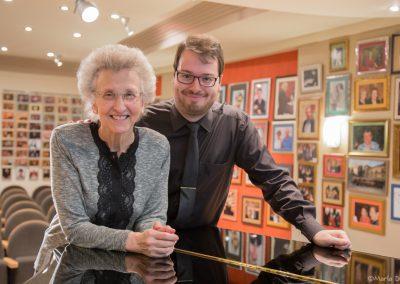 Con Margarita Morais, presidenta de la Fundación Eutherpe. Fotografía de María Díez.